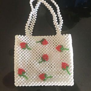 Strawberry 🍓 Beaded Bag NWT